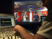 Stock Photo of Band In Recording Studio