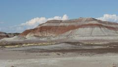 Painted Desert Pan Right Stock Footage