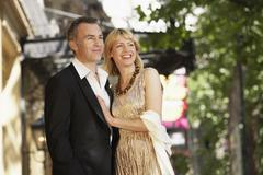 Stock Photo of Elegant Middle Aged Couple On London street