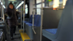 Bus Ride Tilt Shift Stock Footage