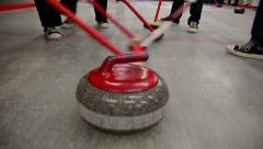 Curling game sport ice Stock Footage