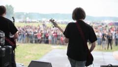 Rock band guitar singer Stock Footage