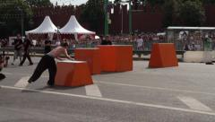 Parkour show jump Stock Footage