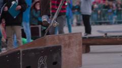 Skateboard show tricks springboard Stock Footage