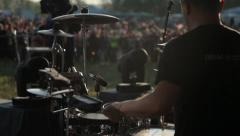 Drummer rock band music concert Stock Footage