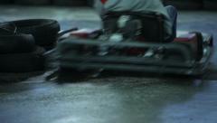 Go kart racing track Stock Footage