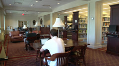 Inside a student library (4 of 8) Stock Footage