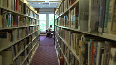 Inside a student library (5 of 8) Stock Footage