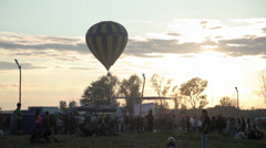 Aerostat balloon rock concert Stock Footage
