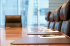 Empty Conference Room Before Meeting Stock Photos