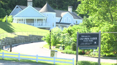 Cold Spring Harbor State Park sign - stock footage