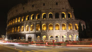 Stock Video Footage of Roman Colosseum Night time-lapse main, Rome, Italy