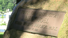 Cold Spring Harbor Park sign with Billy Joel (1 of 2) Stock Footage