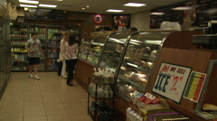 Inside the deli Stock Footage