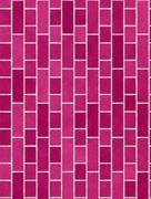 pink brick wall background - stock illustration