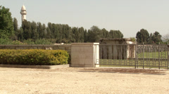 The British war cemetery in Ramla. Stock Footage