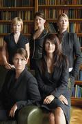 Lawyers Standing Together In Library Stock Photos