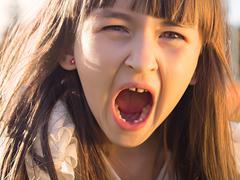 Girl emotion Stock Photos