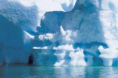 Closeup Of Iceberg - stock photo
