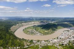Germany, Rhineland-Palatinate, loop of the River Rhine at Boppard, aerial photo Stock Photos