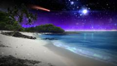 Beautiful Fantasy Beach Stock Footage