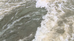 Water rushing fast flooding Stock Footage