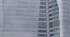 Ultra HD 4K Business District Paris Corporate Building Office Tower Skyscrapers - stock footage