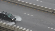 Stock Video Footage of Cars and Truck Driving in Rain