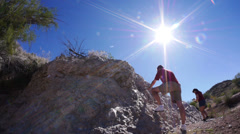 Chiseling Rock Wall 3687 Stock Footage