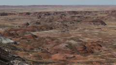 Pan Left Desert Formations Stock Footage