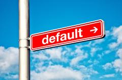 default, directional sign - stock photo