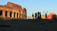 Before sunset, the Colosseum 2 Stock Footage