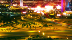 Las Vegas Streets And Freeway Traffic Time-Lapse - stock footage
