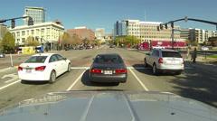Downtown Salt Lake City traffic business POV HD 0157 Stock Footage