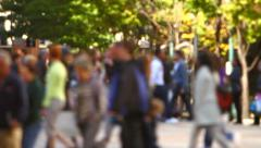 City Pedestrian Traffic Stock Footage