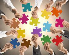 Teamwork and integration concept Stock Photos