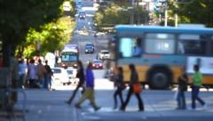 Stock Video Footage of City Pedestrian Traffic