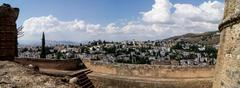 View of granada from the alhambra Stock Photos