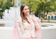 Stock Photo of beauty goes shopping.