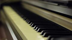 Piano Keyboards Focus Shift Stock Footage