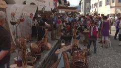 Mittenwald, Germany - Bozner Markt 2012 Stock Footage