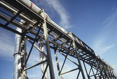 Pipeline and Scaffolding - stock photo