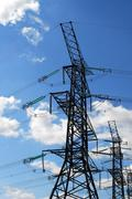 Electrical transmission tower Stock Photos