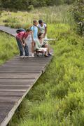 Teacher With Children On Field Trip - stock photo