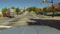 Street intersection Salt Lake City Utah POV HD 0157 Stock Footage