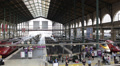Gare du Nord Paris North Station People Commuters Transit Crowd Traffic Passing Footage