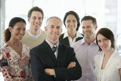 Multiethnic Business People Smiling - stock photo