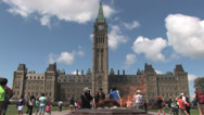 Stock Video Footage of Parliament Hill in Ottawa