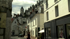 Rue Quintefol (1) - Loches France Stock Footage