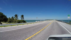 Florida Keys 7 Mile Bridge Time Lapse Stock Footage